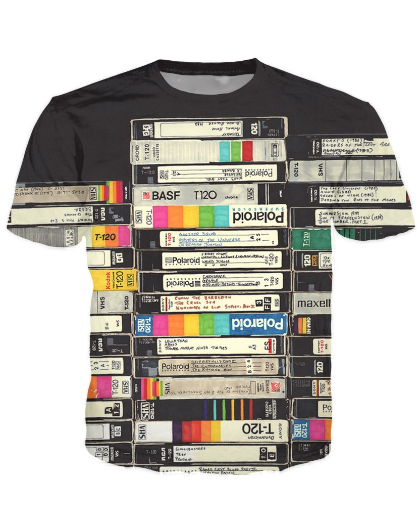 T-shirt - Limited Edition Old VHS Tapes 3D T-Shirt