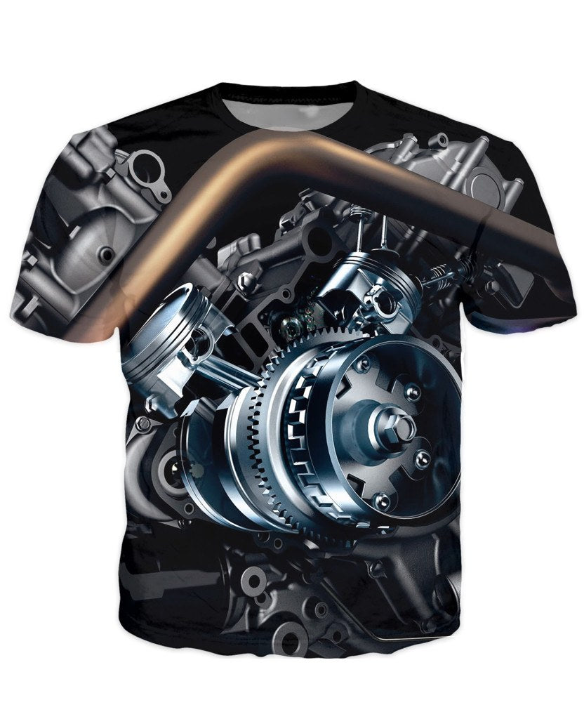 T-shirt - Motorcycle Engine 3D T-Shirt #58