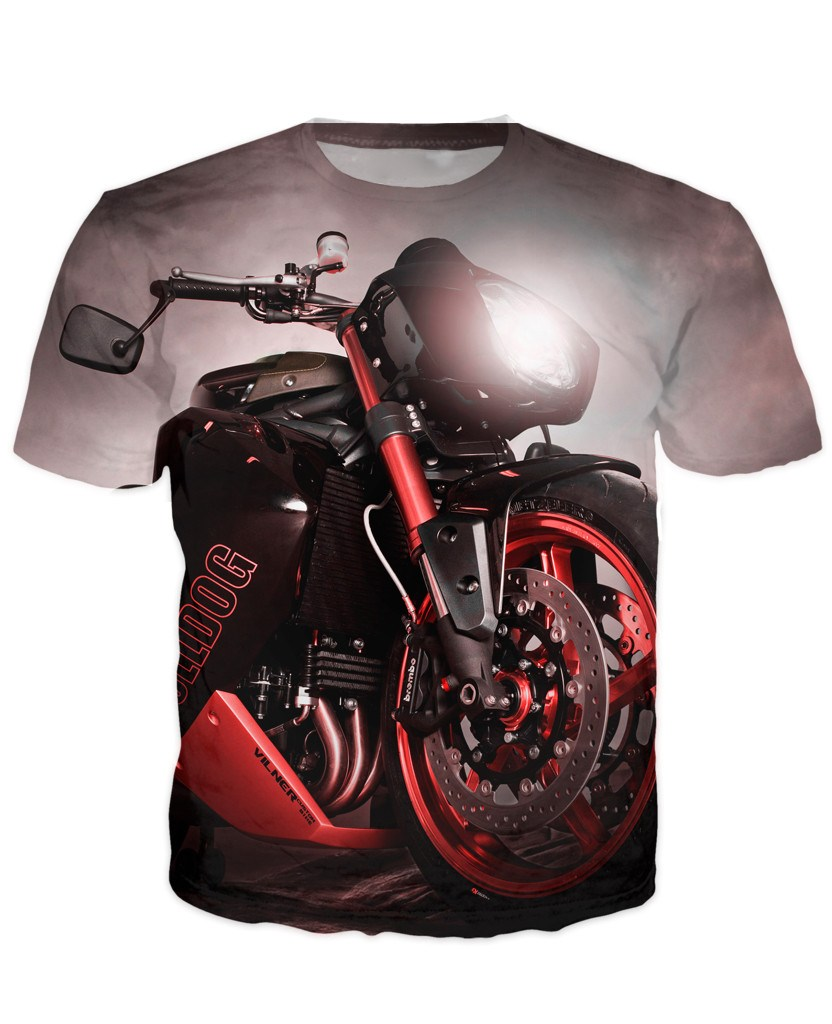 T-shirt - Motorcycle Engine 3D T-Shirt #61