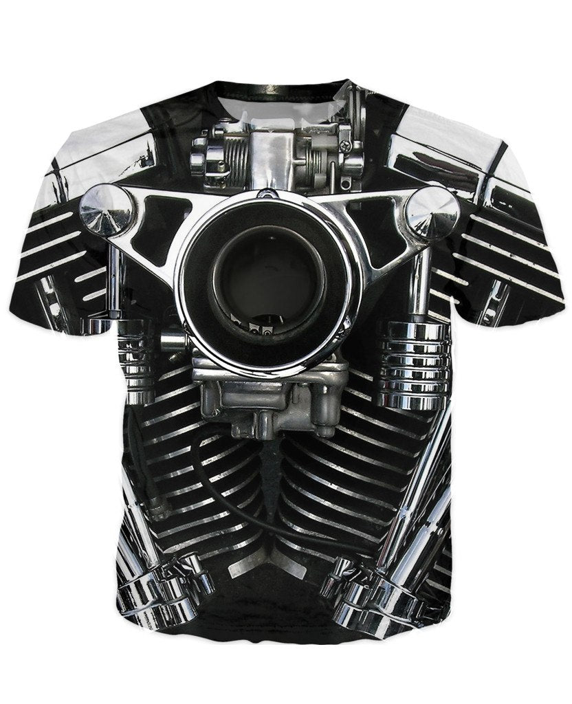 T-shirt - Motorcycle Engine 3D T-Shirt #63