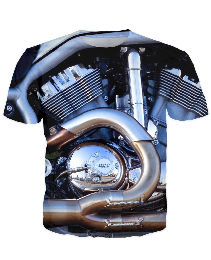 T-shirt - Motorcycle Engine 3D T-Shirt #64