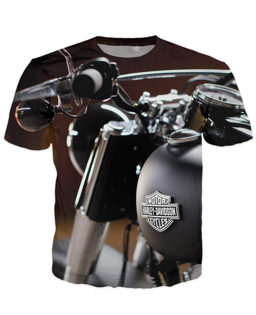 T-shirt - Motorcycle Engine 3D T-Shirt #65