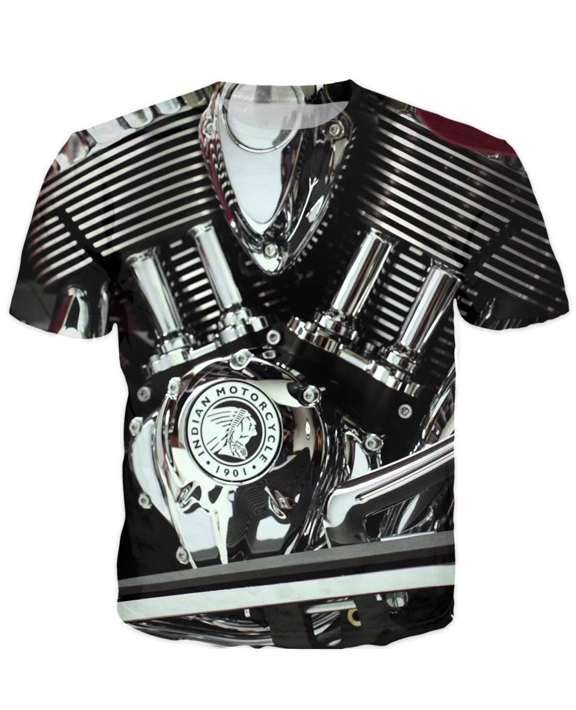 T-shirt - Motorcycle Engine 3D T-Shirt #66