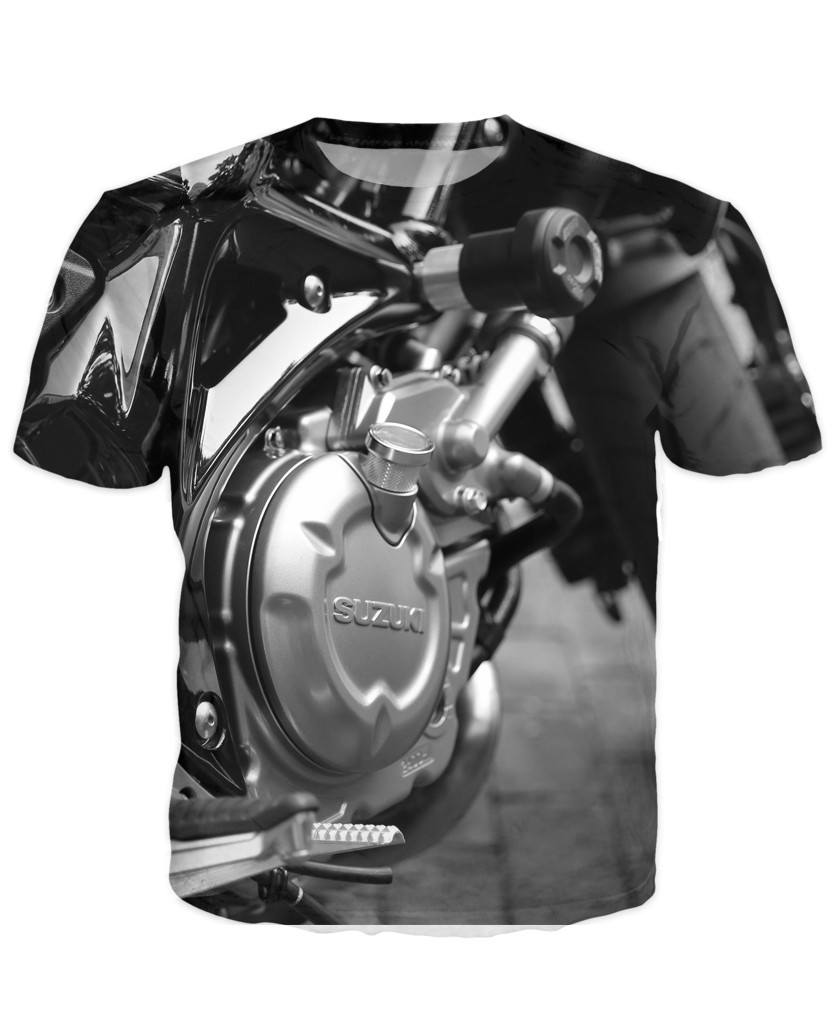 T-shirt - Motorcycle Engine 3D T-Shirt #67
