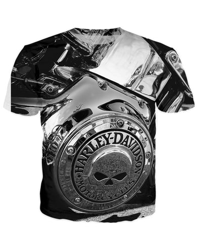 T-shirt - Motorcycle Engine 3D T-Shirt #69