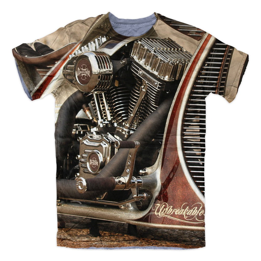 T-shirt - Motorcycle Engine Thunderbike 3D T-Shirt #1