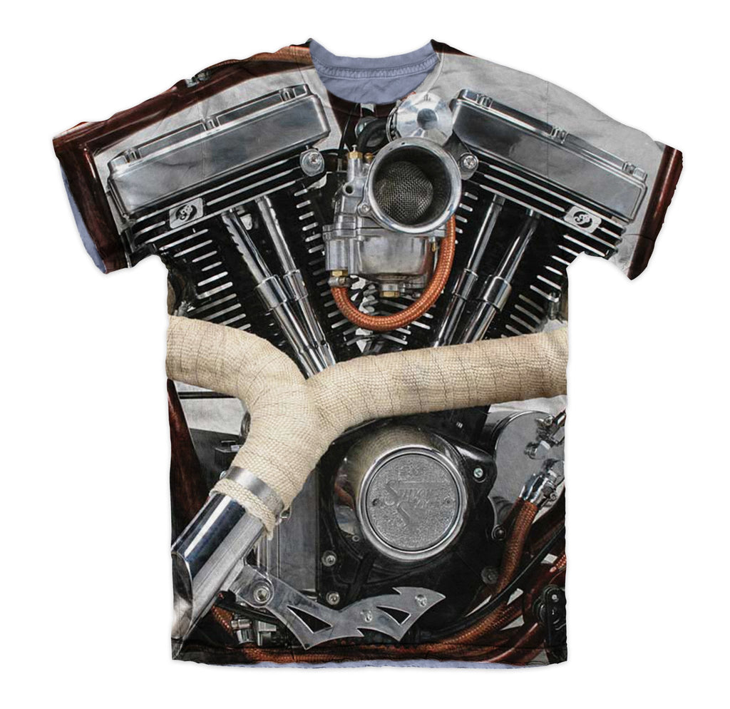 T-shirt - Motorcycle Harley Engine 3D T-Shirt #2