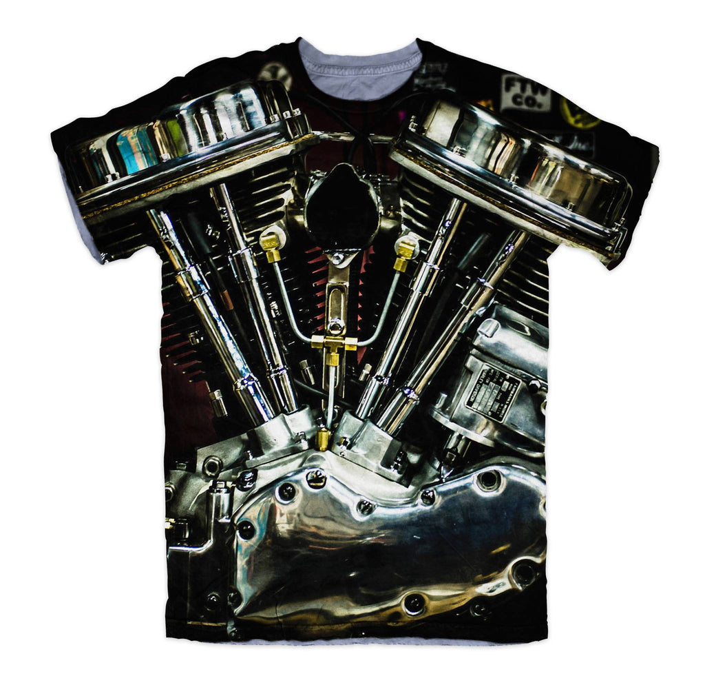 T-shirt - Motorcycle Harley Engine 3D T-Shirt #3