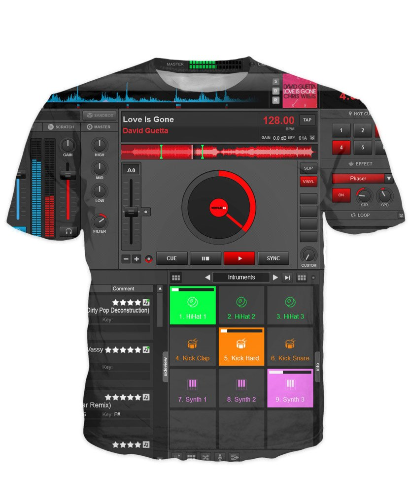 T-shirt - Music DJ Editor 3D New T-Shirt #3