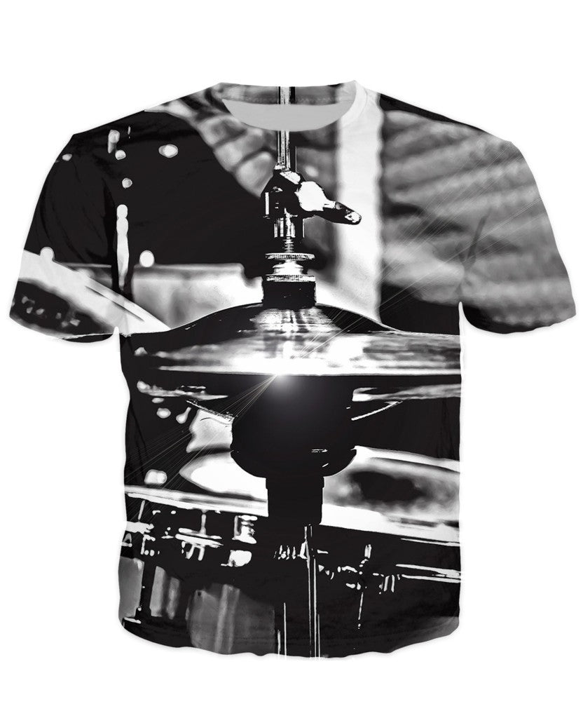 T-shirt - Music Drummer 3D T-Shirt #3