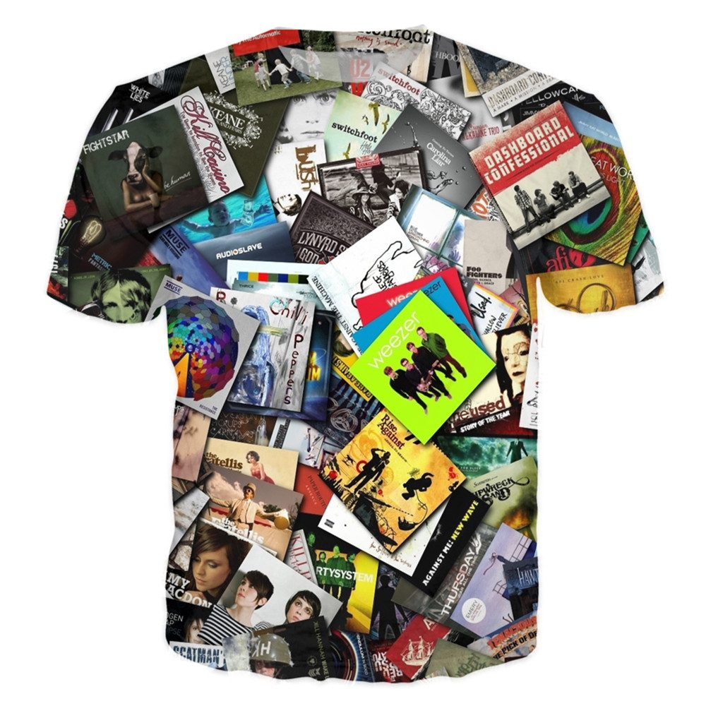 T-shirt - Music Vinyl Power DJ 3D T-Shirt