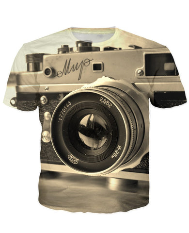 T-shirt - New Photographer Lens 3D T-Shirt #3