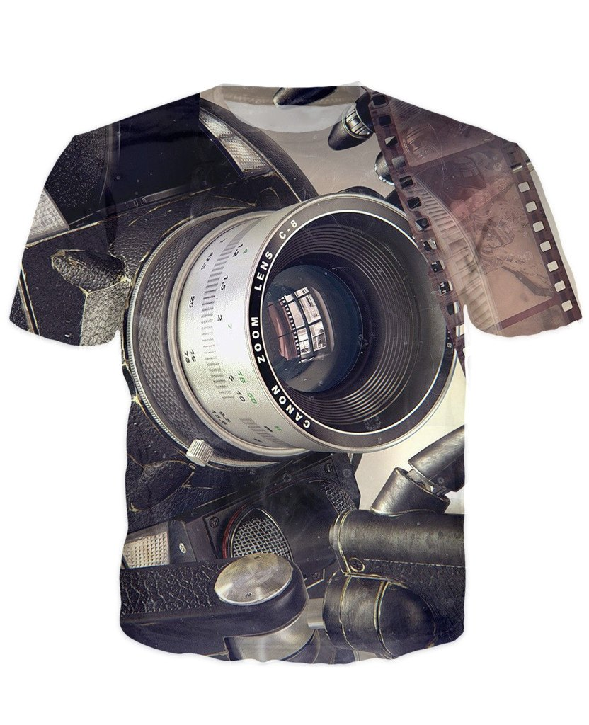 T-shirt - New Photographer Lens 3D T-Shirt #38