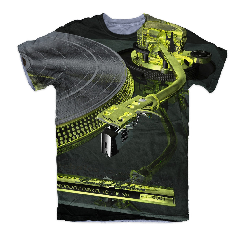 T-shirt - New Technics Vinyl Turntable DJ 3D T-Shirt #2