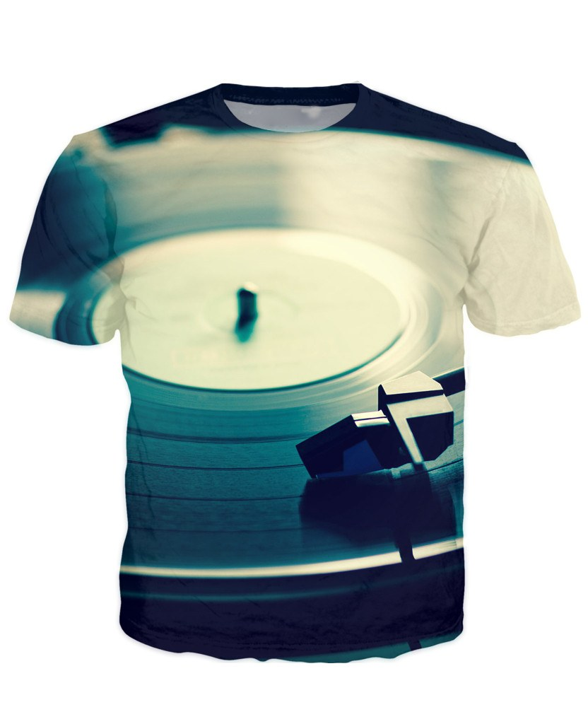 T-shirt - NEW Vinyl Turntable 3D Dj T-Shirt