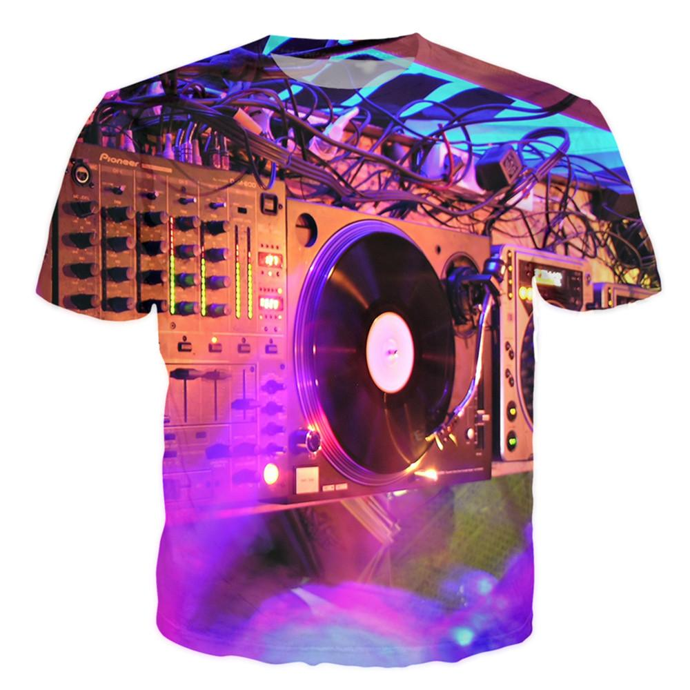 T-shirt - Pure Music Vinyl DJ 3D T-Shirt