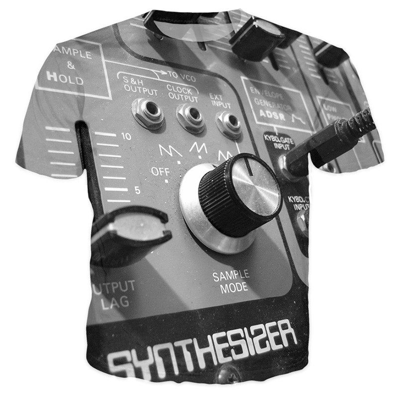 T-shirt - Special Edition Synthesizer 3D T-Shirt