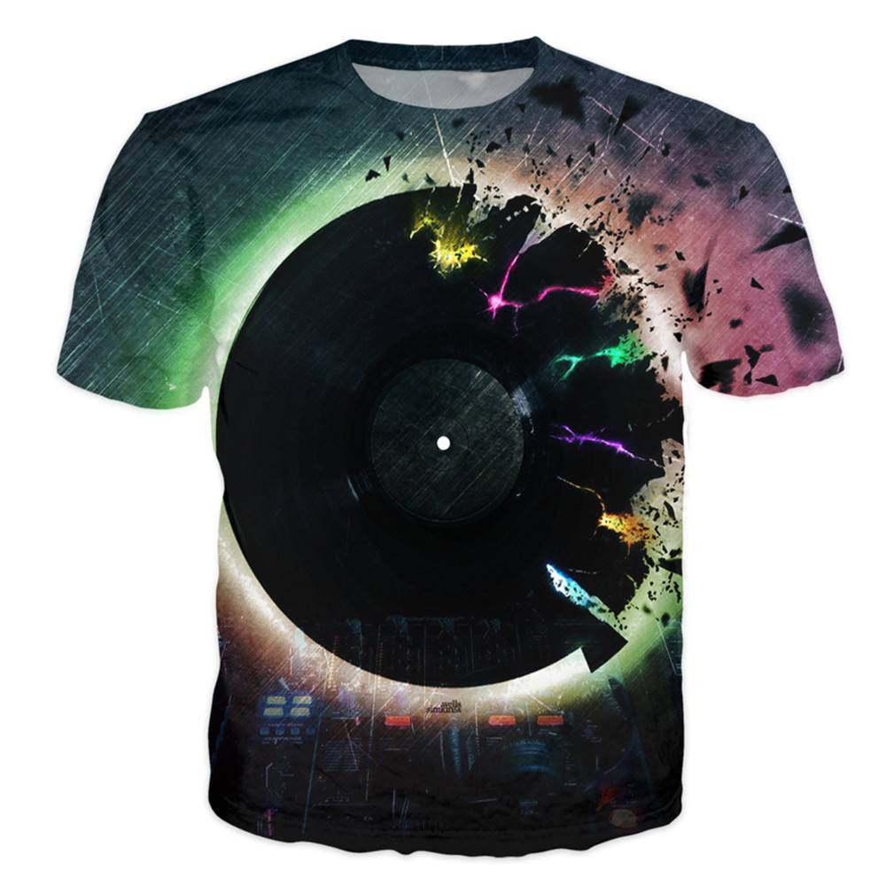 T-shirt - Ultimate Vinyl Power DJ 3D T-Shirt
