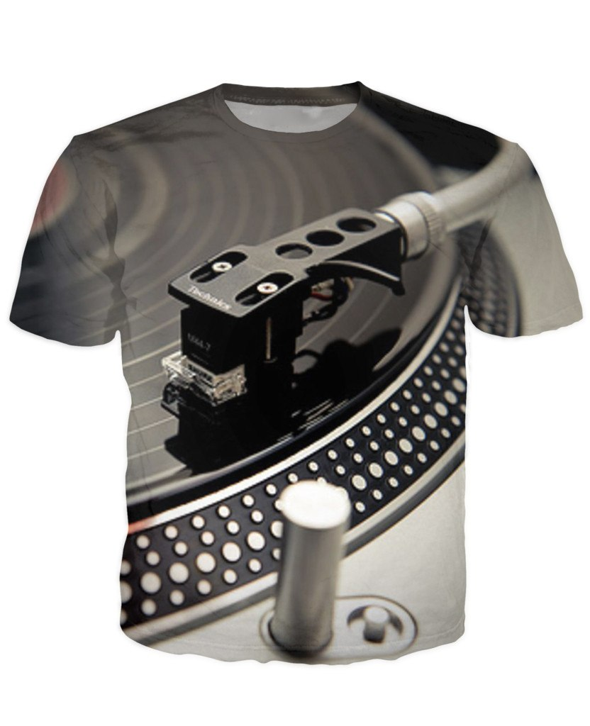 Vinyl turntable 3d dj t shirt gmt arena Dj t shirt design