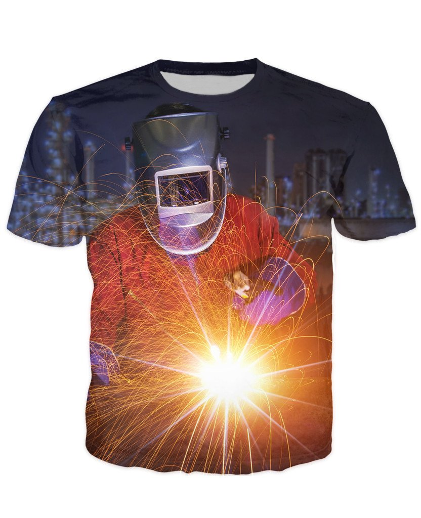 T-shirt - Welder Art 3D T-Shirt #3