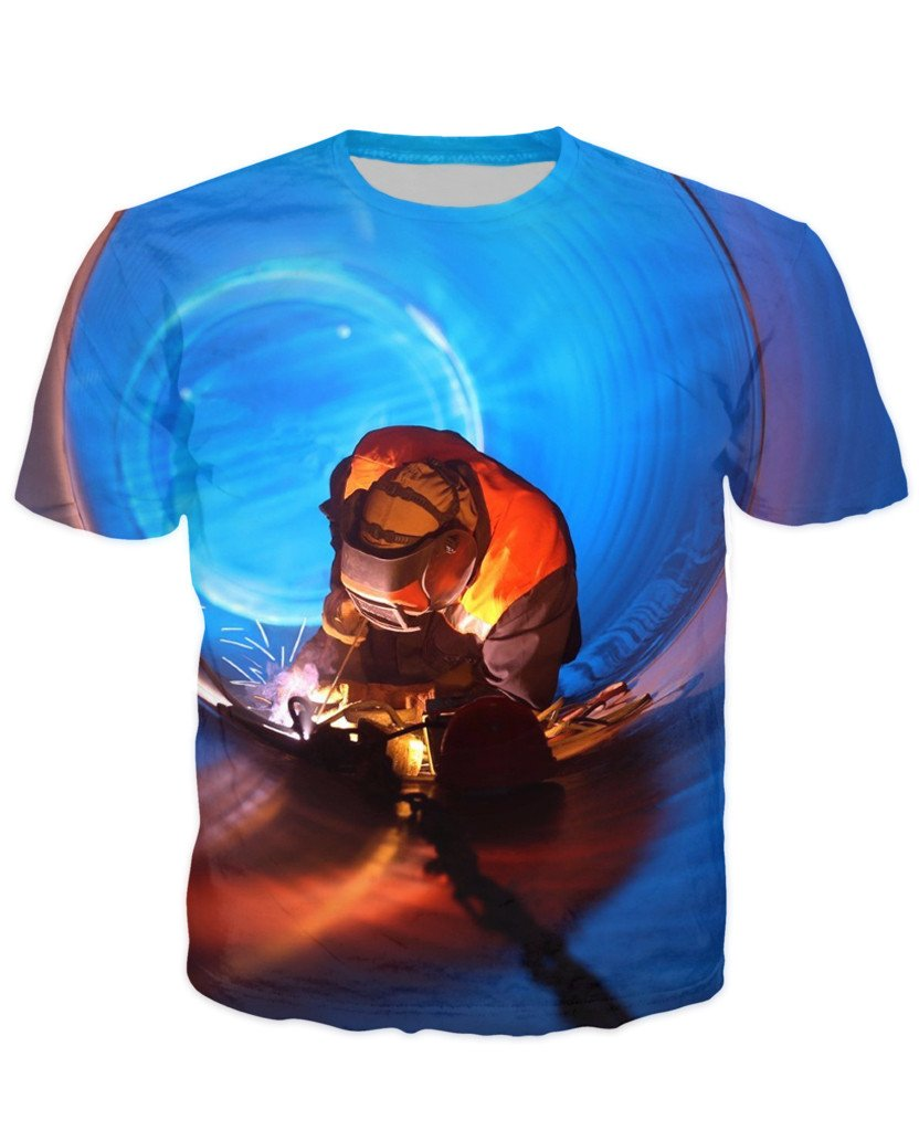 T-shirt - Welder Art 3D T-Shirt #5