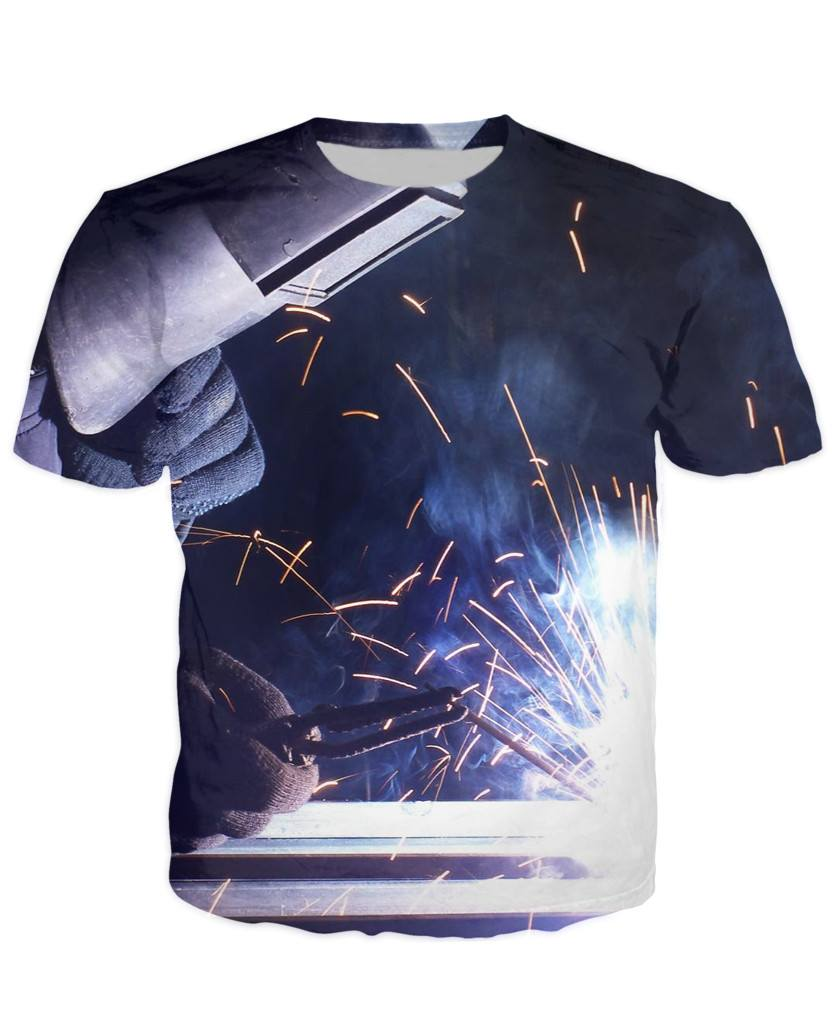 T-shirt - Welder Art 3D T-Shirt #7
