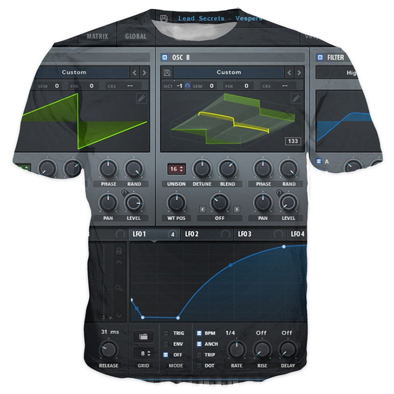 T-shirt - Xfer Serum Dj 3D T-Shirt