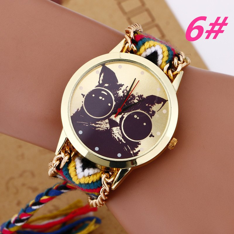Watch - Hand Made Cute Braided Cat Wristwatch