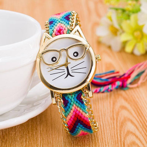 Watch - New Handmade Cat Braided Watch