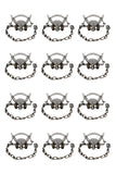 Coil Spring Coon Trap 12-Pack � Duke #1-1/2 CS Model 0470