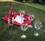 Wine Bottle and Glasses Stake Holders 5-Piece Set