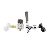 Portable Cornelius Keg Dispense Kit - Mini CO2 Regulator and Keg Spout