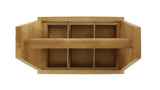6-Pack Natural Wooden Bottled Beverage Carrier