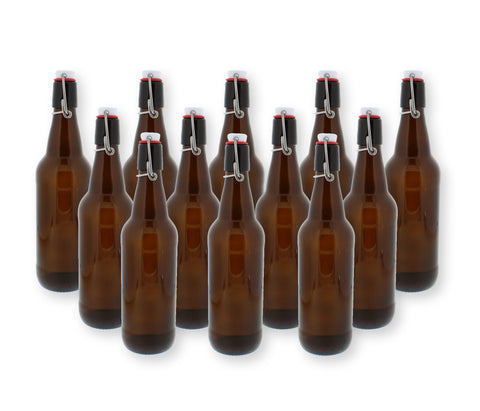 Amber Brewing Bottles - 16.9 oz - 12 Pack