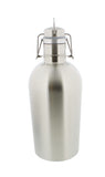 Beer Growler - 2 Liter, 67 Ounces - Double Wall Stainless Steel