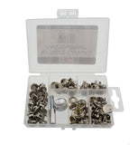 Snap Fastener 101-Piece Set � Canvas Fabric Marine Button Installation