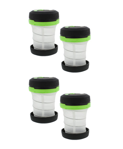 Multi Function Collapsible Camping Lantern 4-PACK in Green