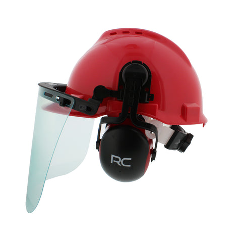34d8088e9e0 Forestry Safety Helmet – Vented Hard Hat with Visors and Earmuffs ...