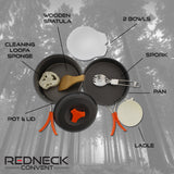 Camping Cookware Set Pot, Pan, Utensils � Cooking Backpack Mess Kit
