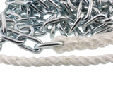 1/2 Inch x 100 Feet Boat Anchor Nylon Braided Rope with Chain 500 lbs
