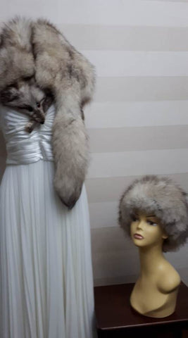 Vintage fox fur hat & wrap