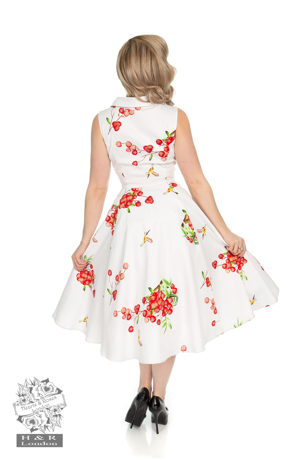 Berry Blast Swing Dress by Hearts & Roses