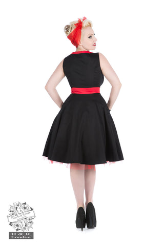 Black Apron Style Dress by Hearts & Roses