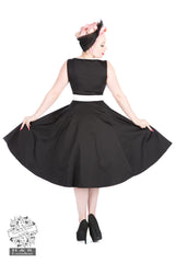 Keyhole Dress in Black by Hearts & Roses