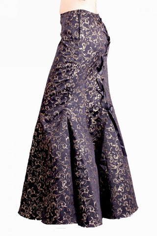 Contrast Brocade Ella Fishtail Skirt
