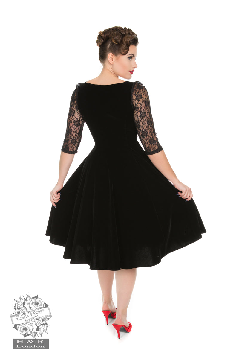 Divine Velvet Swing Dress by Hearts & Roses
