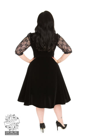 Divine Velvet Swing Dress Plus by Hearts & Roses