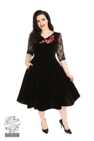 Divine Velvet swing dress by Hearts & Roses Plus sizes