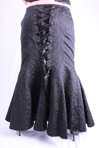 Ella Brocade Eye Back Steampunk Skirt