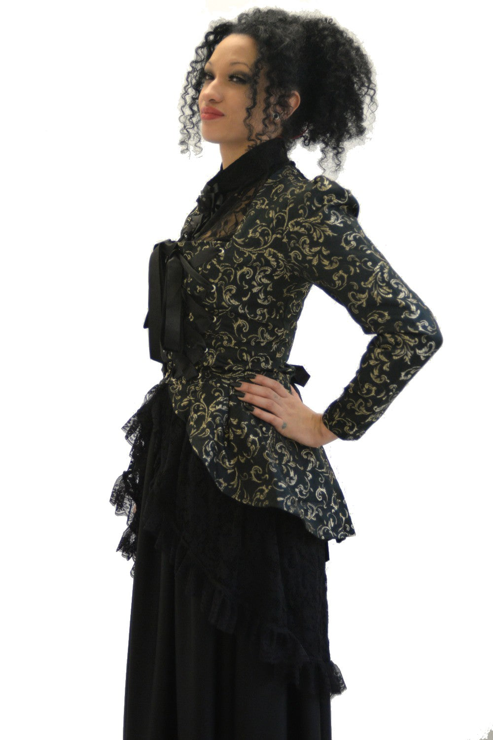 Ella Contrast Brocade Ribbon Jacket